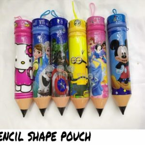Pencil Shape Pouch With Sketch Pens Set